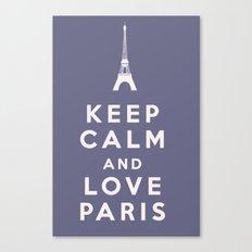 Keep Calm and Love Paris Canvas Print