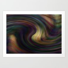 Melting chaos Art Print
