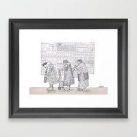 Street Scene Framed Art Print