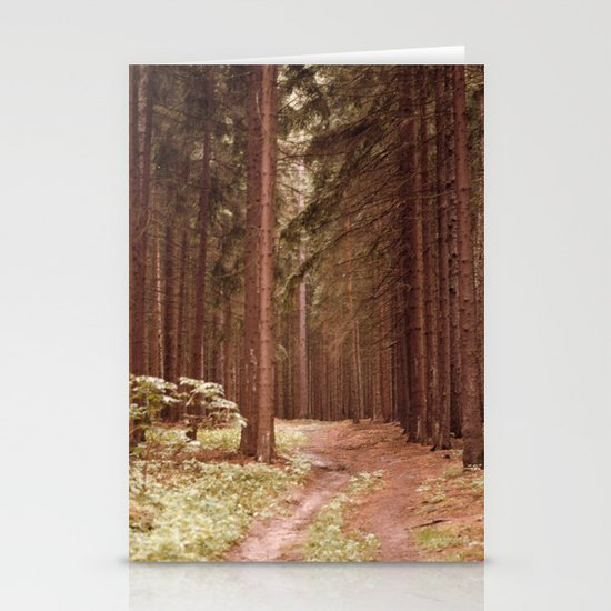 A Path in the Woods Stationery Card