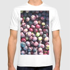 Olive picking Mens Fitted Tee White SMALL