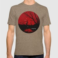I Am Haunted When I Am S… Mens Fitted Tee Tri-Coffee SMALL