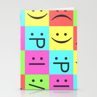 Smiley Chess Board Stationery Cards