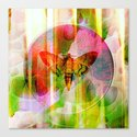The butterfly of rising sun Canvas Print