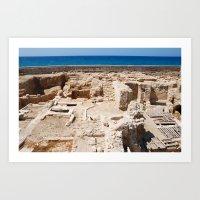 Ruins by the Mediterranean  Art Print