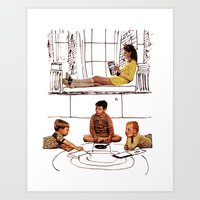 moonrise kingdom Art Prints featuring moonrise kingdom by sharon