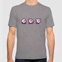 Kirbys Adventure Mens Fitted Tee Tri-Grey SMALL