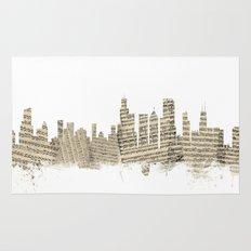 Chicago Illinois Skyline Sheet Music Cityscape Rug
