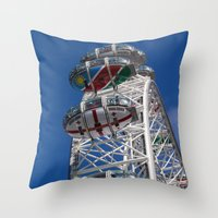 The London Eye Rugby Wor… Throw Pillow