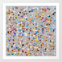 Splash Dots Art Print