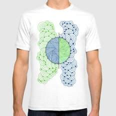 Shape 2 Mens Fitted Tee SMALL White