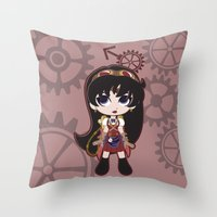 Steampunk Sailor Mars - Sailor Moon Throw Pillow