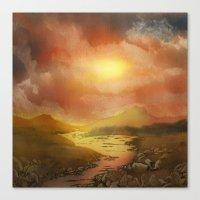Calling The Sun XIX Canvas Print