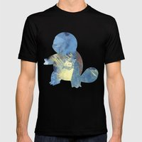 Squirtle Mens Fitted Tee Black SMALL