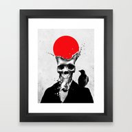 SPLASH SKULL Framed Art Print