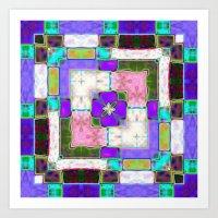 Glass Block Abstract Art Print