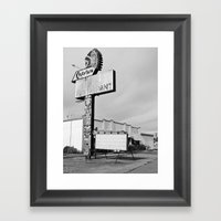 Once a diner Framed Art Print
