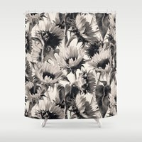 Sunflowers in Soft Sepia Shower Curtain