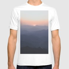 The Great Wall of China III Mens Fitted Tee White SMALL