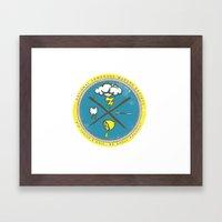 National Lemonade Makers Society Crest Framed Art Print