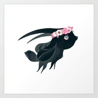 my little goat Art Print