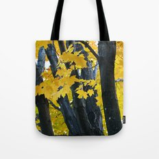 gold and black forest Tote Bag