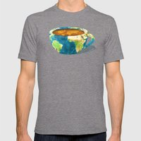 Coffee World Mens Fitted Tee Tri-Grey SMALL