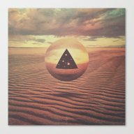 Triangle Meets Sphere (f… Canvas Print