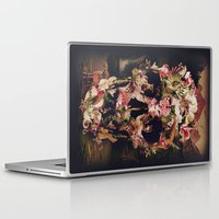 collage Laptop & iPad Skins featuring Jungle Skull by Ali GULEC