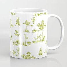 Yellow Toile Unicorn Mug