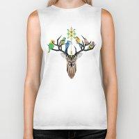 Deer Birds Biker Tank