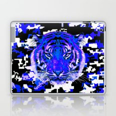 camouflage tiger on blue Laptop & iPad Skin