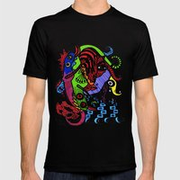 Lizard Princess Mens Fitted Tee Black SMALL