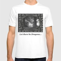 Let there be dragons. Mens Fitted Tee White SMALL