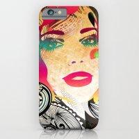 iPhone & iPod Case featuring retro girl by Irmak Akcadogan
