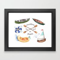 Adventures by Sail or Paddle Framed Art Print