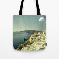Santorini Seascape Tote Bag