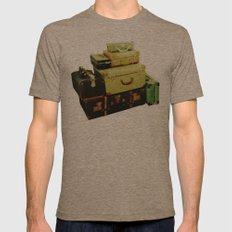 Time to Leave Mens Fitted Tee Tri-Coffee SMALL