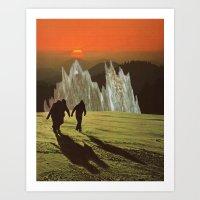 Friends At Sunset Art Print