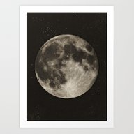 Art Print featuring The Moon  [Sans Type] by Heather Landis