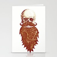 Beard Skull 2 Stationery Cards