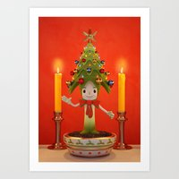 Little Christmas Tree Art Print