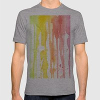Rainbow Watercolor Mens Fitted Tee Athletic Grey SMALL