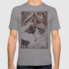 Miss Aulola Petite Tri-Grey Mens Fitted Tee SMALL