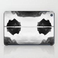 Black and White Isolation Island iPad Case
