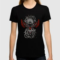 Divine Crow Woman Womens Fitted Tee Black SMALL