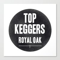 Top Keggers Canvas Print
