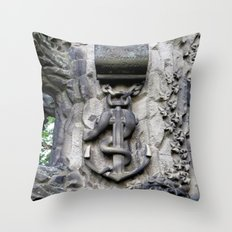 Anchor and Snake  Throw Pillow