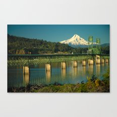 Hood River Bridge and Mount Hood Canvas Print