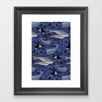 Beautiful Ocean Giants - purple Framed Art Print